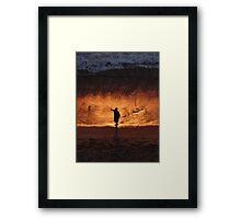 Glowing Beach - Playa Lucienda Framed Print