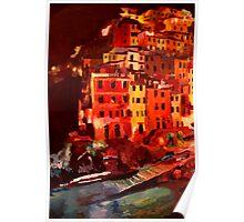 Magic Cinque Terre Night in Riomaggiore Poster