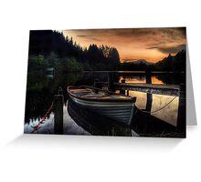 Golden Sunset over Loch Ard Greeting Card