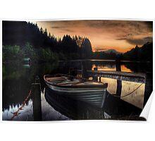Golden Sunset over Loch Ard Poster