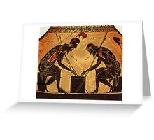 Achilles and Ajax Playing Game Greeting Card