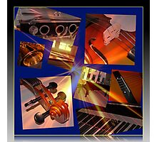 Glory of Music Collage Photographic Print
