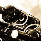 Wine Rack and Bottles by Amber Leigh Summers