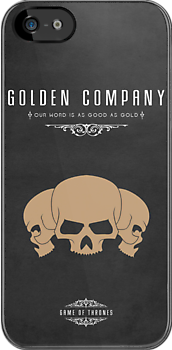 Golden Company iPhone Cover by liquidsouldes