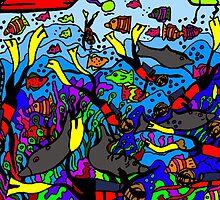 Scuba divers by Karen Elzinga