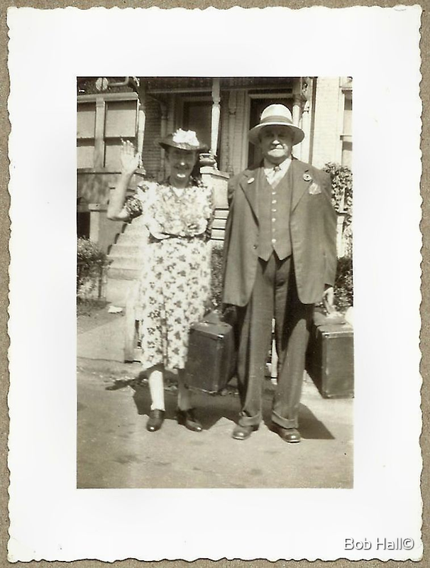 My Great Grandparents, The Halls by © Bob Hall