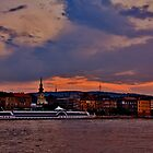 Budapest the Danube River at night.Number 1 by Anatoly Lerner