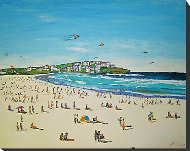 BONDI KITE FLYING by gillsart