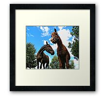 Assessing the situation Framed Print