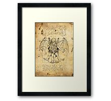Cthulhu Vitruvian Framed Print