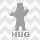 Bear Hug - Grey by Susan Tong