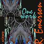 &quot;One work, Two Views&quot; Commemorative Poster by L. R. Emerson II from the Upside-Down Drawing Art Movement; Upsidedownism, Topsy Turvy Art, Ambigram Art, or Masg Art  by L R Emerson II