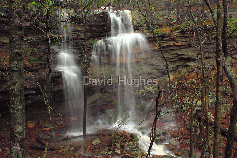 Lower Haley's Waterfall of Arkansas by David  Hughes