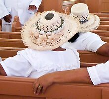 hats in church by Anne Scantlebury