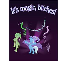 It's MAGIC! with text Photographic Print