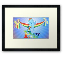 Pony Pride - with text Framed Print