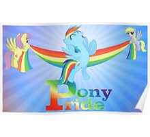 Pony Pride - with text Poster
