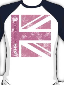 London 2012 - Londinium MMXII Union Jack Pink T-Shirt