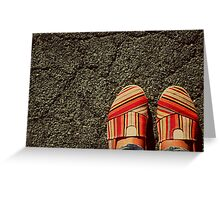 Shoes on  the Cement Greeting Card