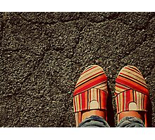 Shoes on  the Cement Photographic Print
