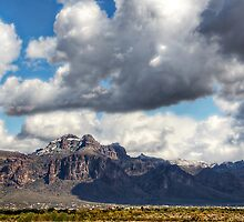Snow Day at the Superstitions by Saija  Lehtonen