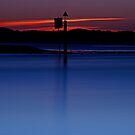 Red and Blue, Sunset at Smiths Lake by bazcelt