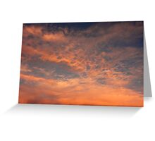 Shattered Sunset Greeting Card