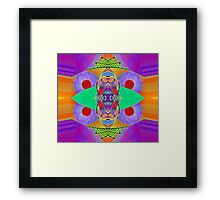 """Peter Max & the Day Glo Dream"" is an Upside-Down Art, Masg Art, Upsidedownism, Ambigram Art or Upside-Down Drawing by Upside-Down Artist, L. R. Emerson II  Framed Print"