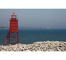 Red Watch Tower Photographic Print