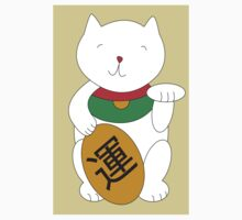 Maneki Neko Cat Luck and Good Fortune  by ValeriesGallery