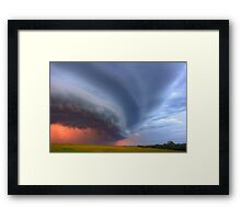 Sunset Gust Out Framed Print