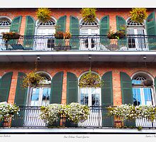 """Flower Boxes"" New Orleans French Quarter by Sandra Russell"