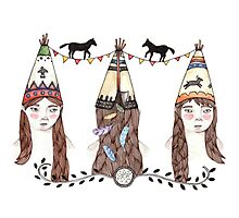 Tipi Party Photographic Print