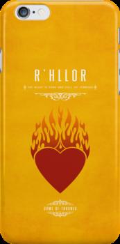 R'hllor iPhone Case by liquidsouldes