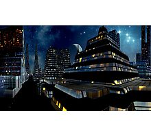 Reflections of Night - Metropolis Moon Photographic Print