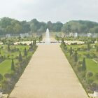 Hampton Court Gardens Photo/Watercolour by JohnYoung
