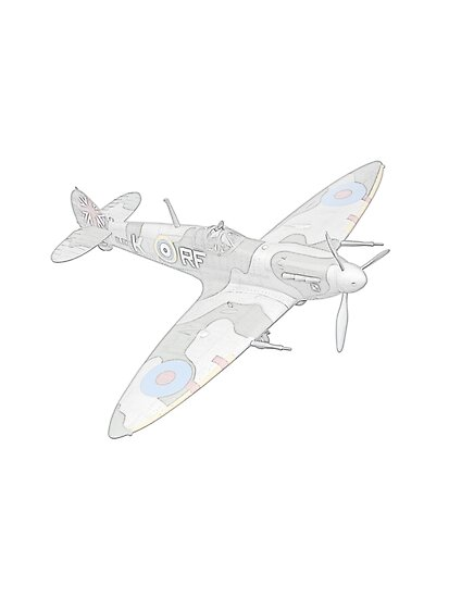 1936 WWII Spitfire Fighter Airplane by surgedesigns