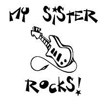 My Sister Rocks! Guitar by surgedesigns