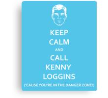 Danger Zone! (White Fill) Canvas Print
