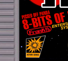 Pissed OFF Panda 8-bits of HATE Video Game (textless) Sticker