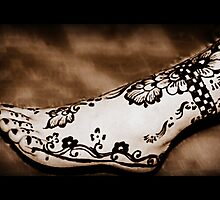 That's Some Ankle!  {Henna Art Sepia Tones} by Jane Neill-Hancock