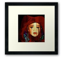Hiding Behind Her Fence Framed Print