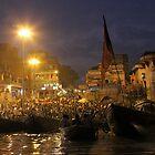 Evening prayer at Varanasi by Joanne Rinaldi