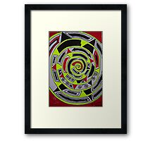 Adar (אדר) abstract.  Hand made  by Doktor Faustus. Views 1007 . Thank you friends ! Featurted Art Changing the World - Futurism. Framed Print