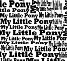 My Little Pony Typography Sticker
