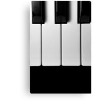Piano Keys in Monochrome Canvas Print