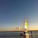 Sailing at Sunset, Queensland, Australia by Leah Gay