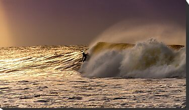 Bells Beach Sunrise Surfer by Russell Charters