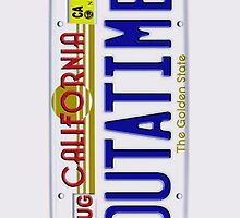 Outatime License Plate Back To The Future iphone 5, iphone 4 4s, iPhone 3Gs, iPod Touch 4g case by pointsalestore Corps