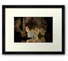 Tham Lod main passage Framed Print